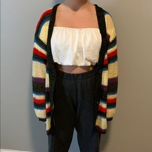 Urban Outfitters Striped Multicolor Cardigan